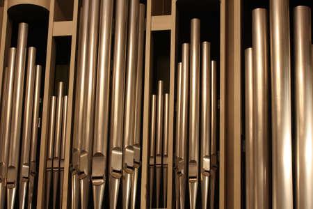 several organ-pipes at the twilight reed organ hall