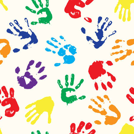 Ilustración de multicolored  fingerprints with the colors of rainbow - Imagen libre de derechos