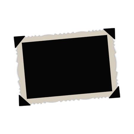 Illustration pour Vintage paper picture frame. Vector. - image libre de droit