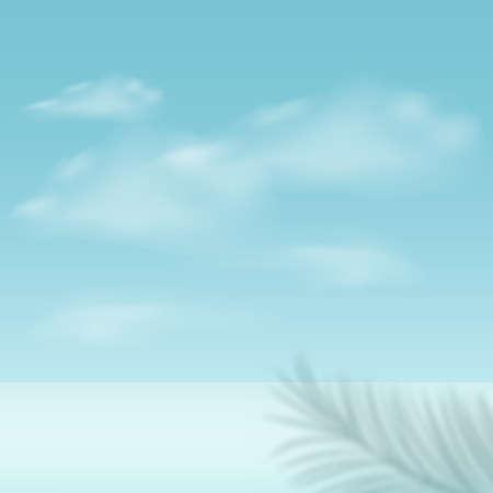 Illustration pour Abstract background with blue color geometric 3d sky podiums. Vector illustration - image libre de droit