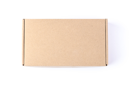 Photo for Cardboard Box isolated on a White background - Royalty Free Image