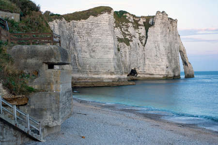 Cliffs of Etretat, Normandy, north of France, Europe.