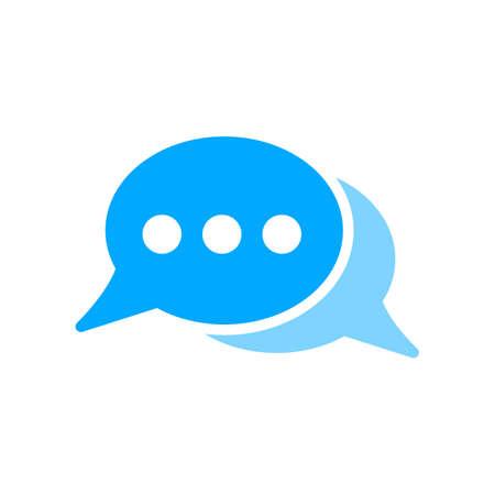 Illustration pour Bubble chat dots message icon. Vector illustration. - image libre de droit