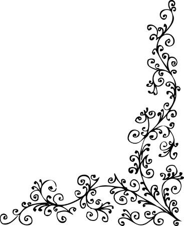 Baroque frozen pattern vignette. Eau-forte 031.