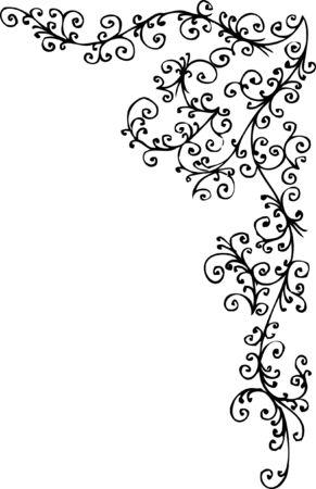Baroque frozen pattern vignette. Eau-forte 036.