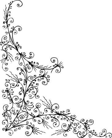 Baroque frozen pattern vignette. Eau-forte 041.