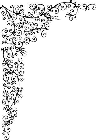 Baroque frozen pattern vignette. Eau-forte 043.