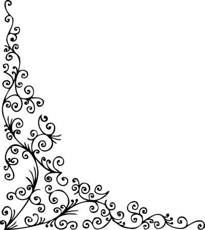 Baroque frozen pattern vignette. Eau-forte 056.