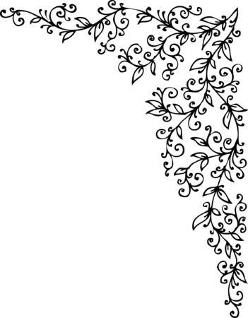 Floral vignette. Eau-forte 381