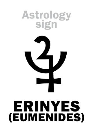 Vector of Astrology Alphabet: ERINYES - ID:82739356