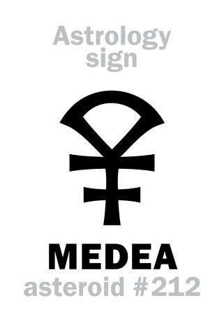 Astrology Alphabet: MEDEA, asteroid #212  Hieroglyphics