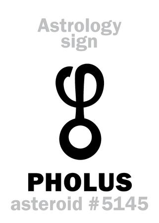 Vector of Astrology Alphabet: PHOLUS, - ID:84166628