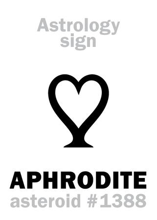 Astrology Alphabet: APHRODITE, asteroid #1388  Hieroglyphics