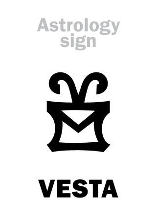 Astrology Alphabet: VESTA, asteroid #4, most bright in
