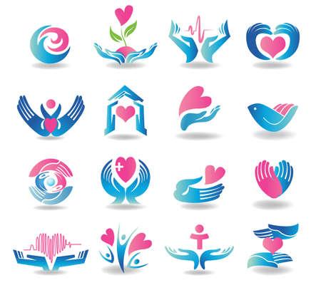 Foto de Health care design elements - Imagen libre de derechos