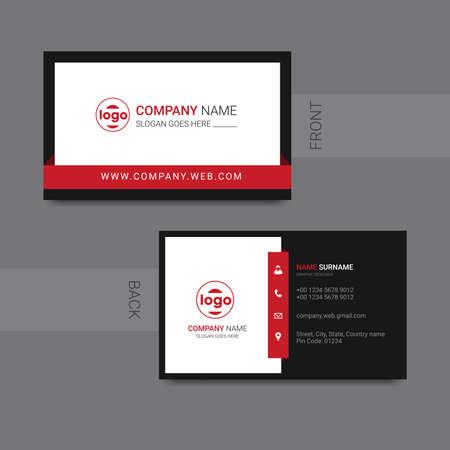 Illustration pour Modern professional business card design vector. Vector illustration. - image libre de droit