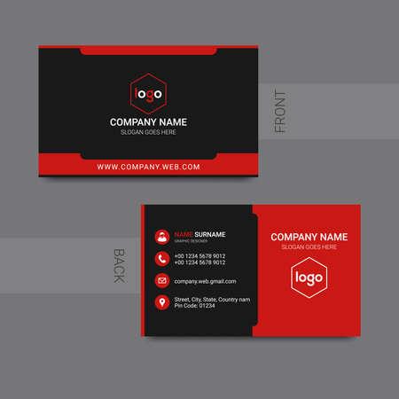Illustration for Modern professional business card design vector. Vector illustration. - Royalty Free Image