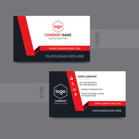 Illustration for Modern business card modern design vector. Vector illustration. - Royalty Free Image