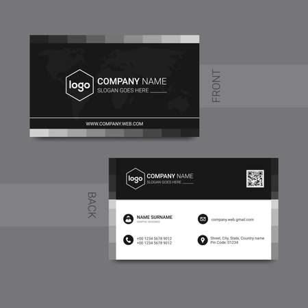 Illustration for Modern business card template design. With inspiration from the abstract. Contact card for company. - Royalty Free Image