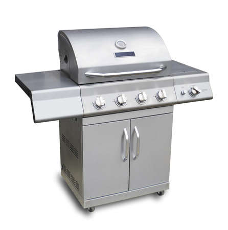Barbecue gas grill in stainless steel
