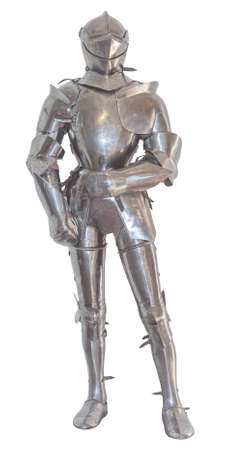 A vintage european full body armor suit, isolated