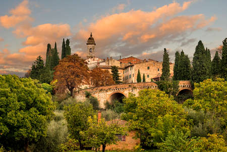 picturesque medieval village in Tuscany, Italy