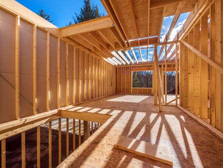 Photo pour New framing construction of a  house - image libre de droit