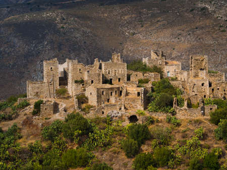 Vathia abandoned village in Peloponnese, Greece