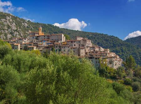 Hilltop village of Peillon, France