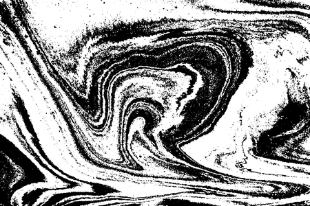 Black and white abstract background. Liquid marble pattern. Monochrome texture. Vector illustration