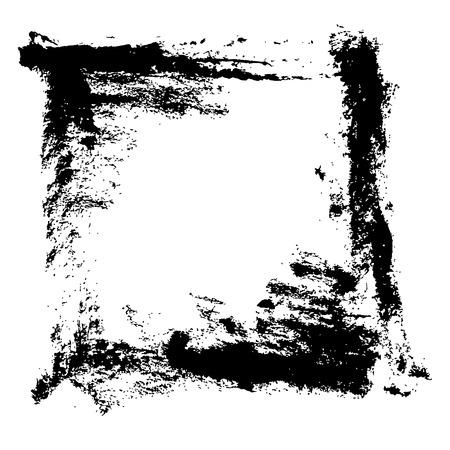 Illustration pour Ink vector brush stroke frame. Vector illustration. Grunge texture - image libre de droit
