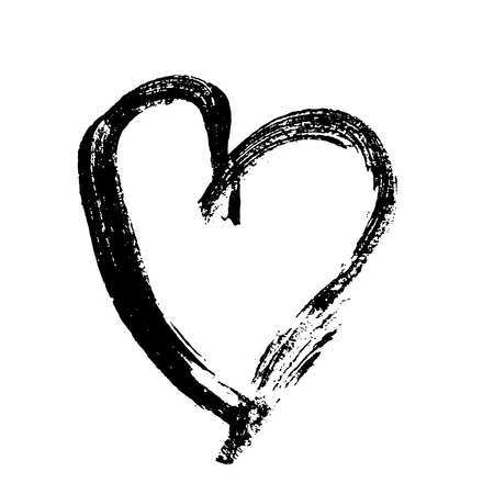 Illustration for Grunge heart. Valentine day print. Vector illustration. - Royalty Free Image
