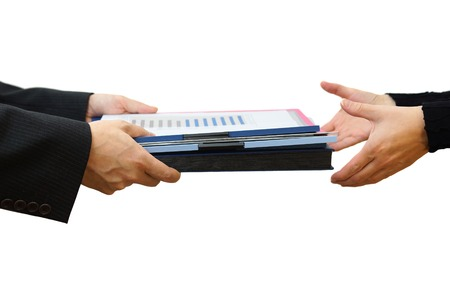 Handing File Folder ,teamwork concept