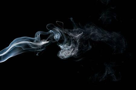 Foto de Smoke isolated on black background - Imagen libre de derechos