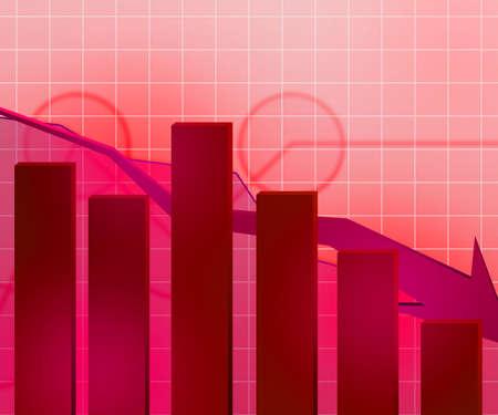 Red Economic Crisis Background