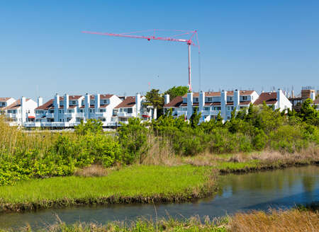 New construction of condos and apartments in Ocean City, Maryland, United States of America