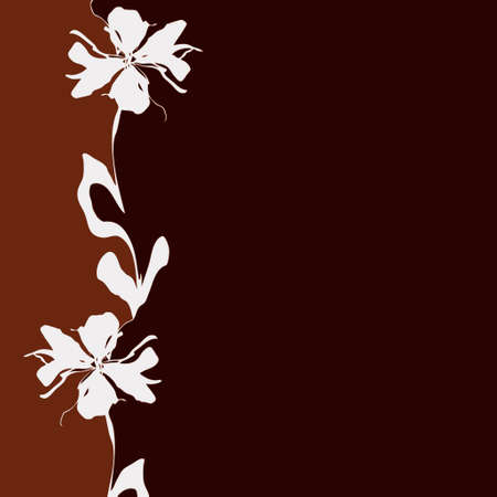 light & dark brown background with flower (vector eps format)