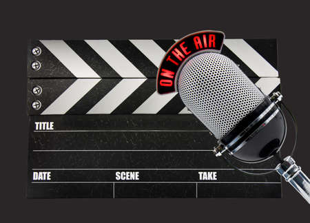 Film Slate and microphone
