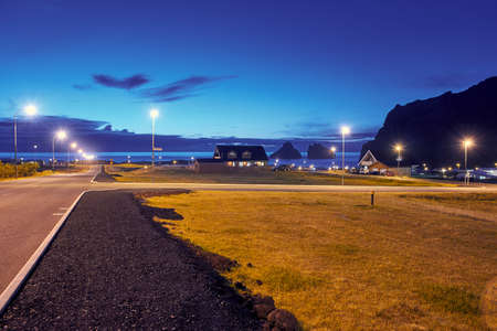Photo for Road on the Westman islands in Iceland at night - Royalty Free Image