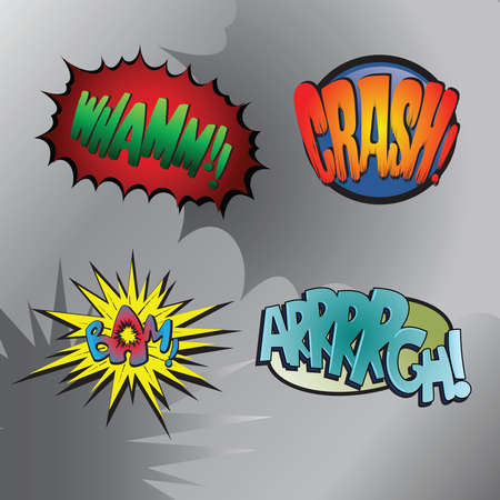 Superhero bashing #3 - Comic fighting bubbles of super heroes