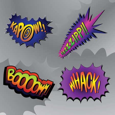 Superhero bashing #4 - comic fighting bubbles of super heroes