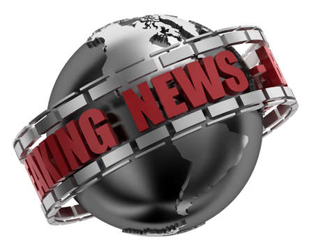Breaking News Globe in 3D