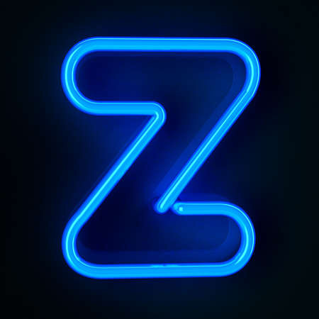 Highly detailed neon sign with the letter Z
