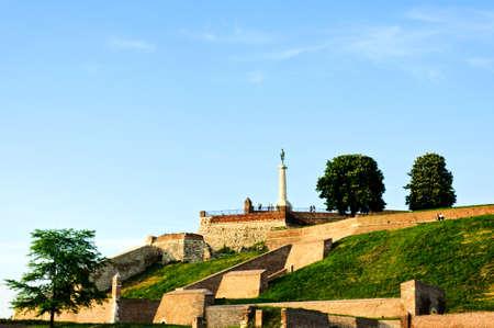 View of Kalemegdan castle in Belgrade