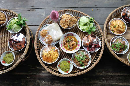 Kantoke, traditionally dinner set was popular in North of Thailand, particularly Chiang Mai