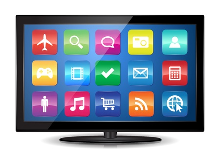 This image represents a Smart TV    Smart TV
