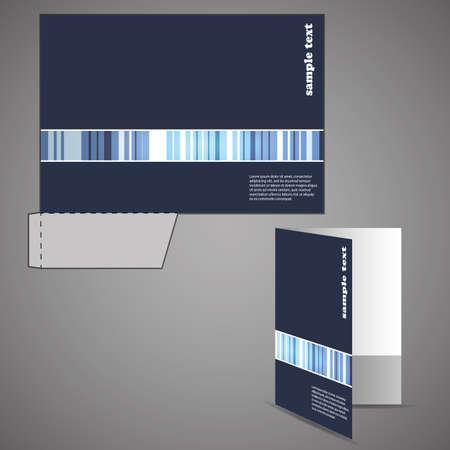 Illustration pour Corporate folder with die cut design - image libre de droit