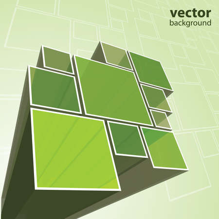 Abstract transparent green background vector