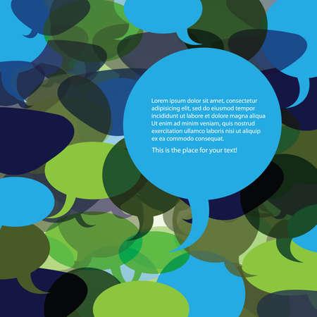 Illustration pour Speech Bubble Background Vector - image libre de droit