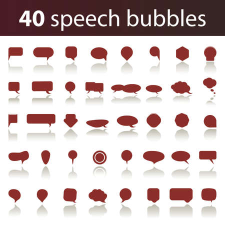 Illustration for 40 Speech Bubbles - Royalty Free Image